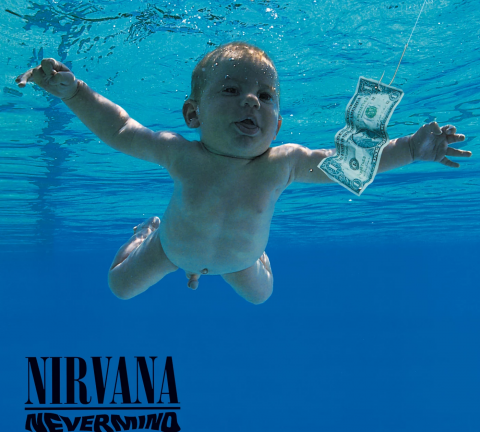 Capa Nevermind - Nirvana.
