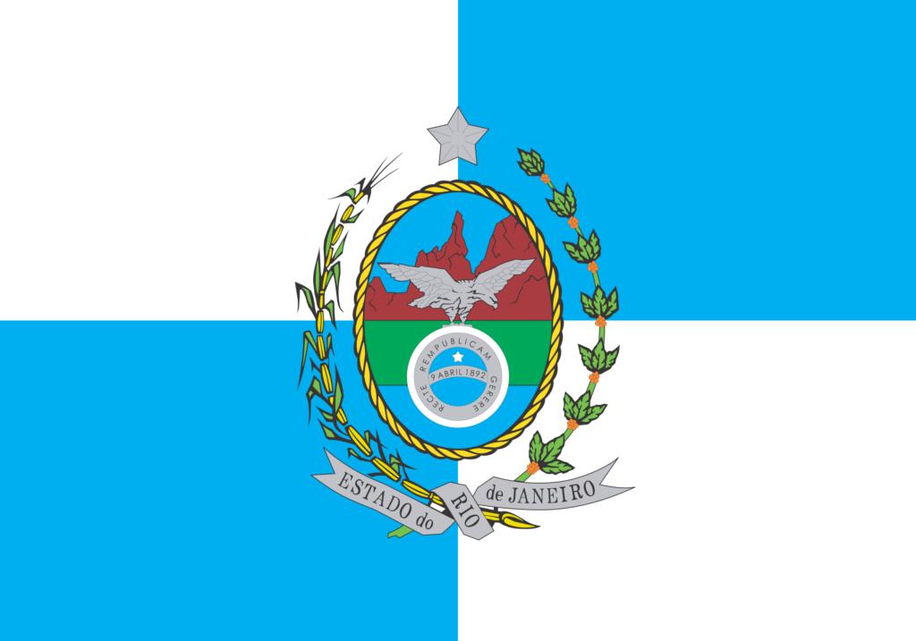 Bandeira do Estado do Rio de Janeiro.