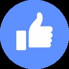 Botão facebook like, ícone.