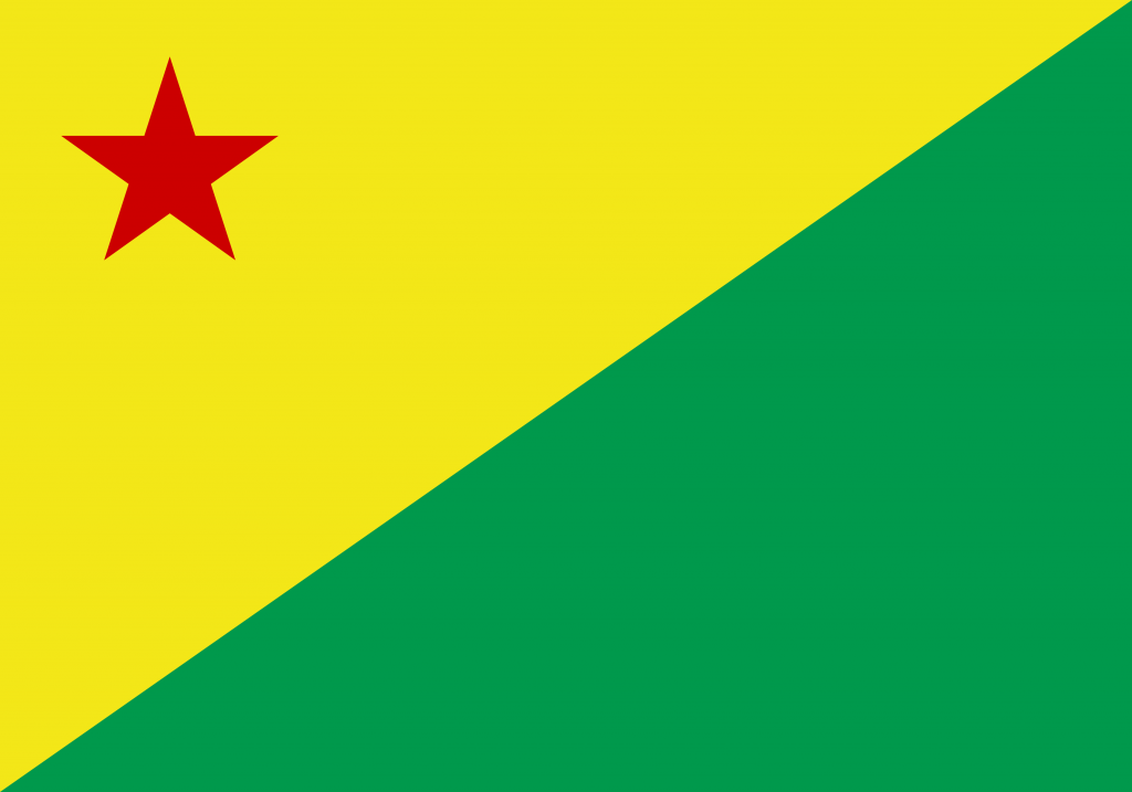 Bandeira do Acre estado.