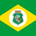 Bandeira do Ceará estado.