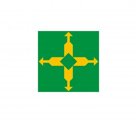 Bandeira do Distrito Federal do Brasil.