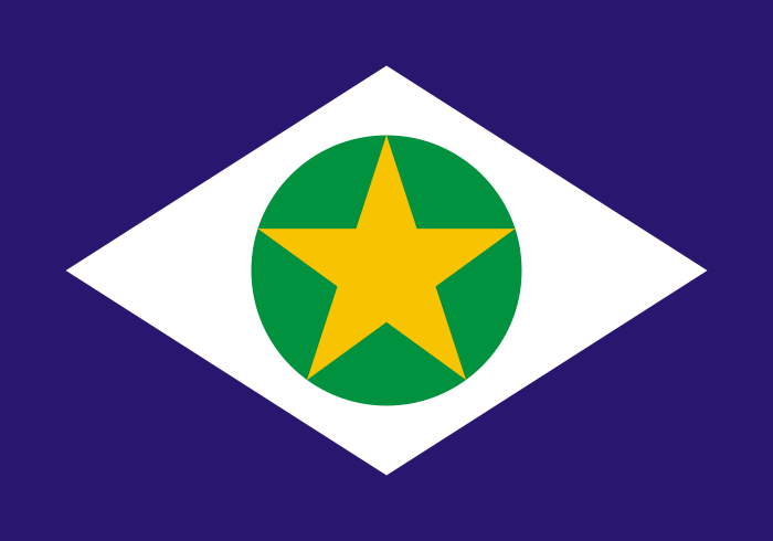 Bandeira do Mato Grosso Estado.