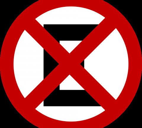 Placa de Proibida Parada.
