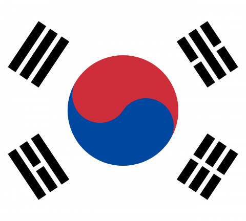 Bandeira Coreia do Sul.