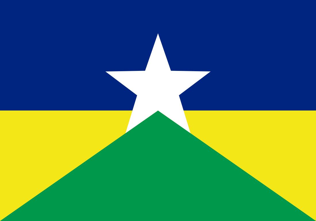 Bandeira de Rondônia, estado.