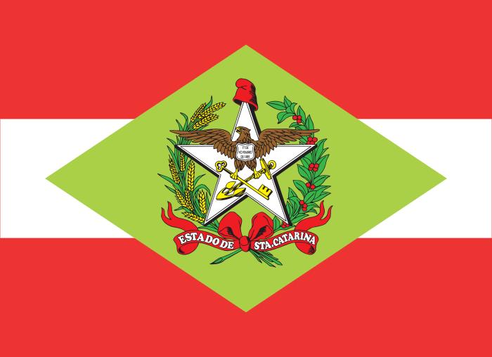 Bandeira de Santa Catarina, estado.