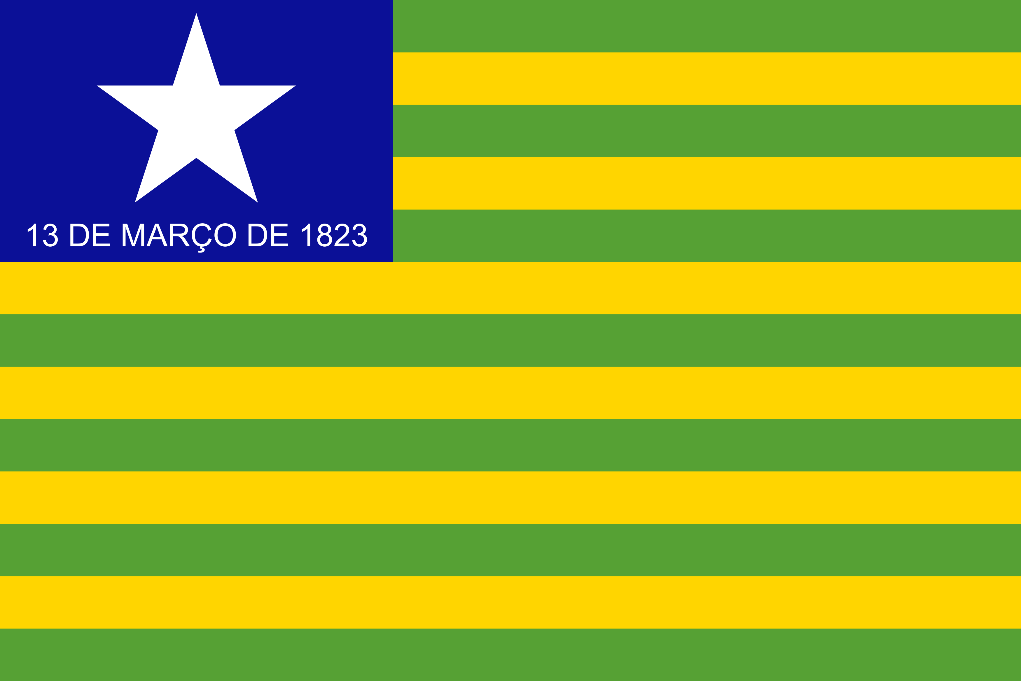 Bandeira do Piauí, estado.