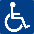 Símbolo Cadeirante, acessibilidade.