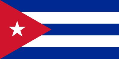 Bandeira Cuba.
