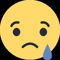 Facebook triste emoji.