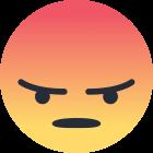 Facebook Emoji grr , raiva.