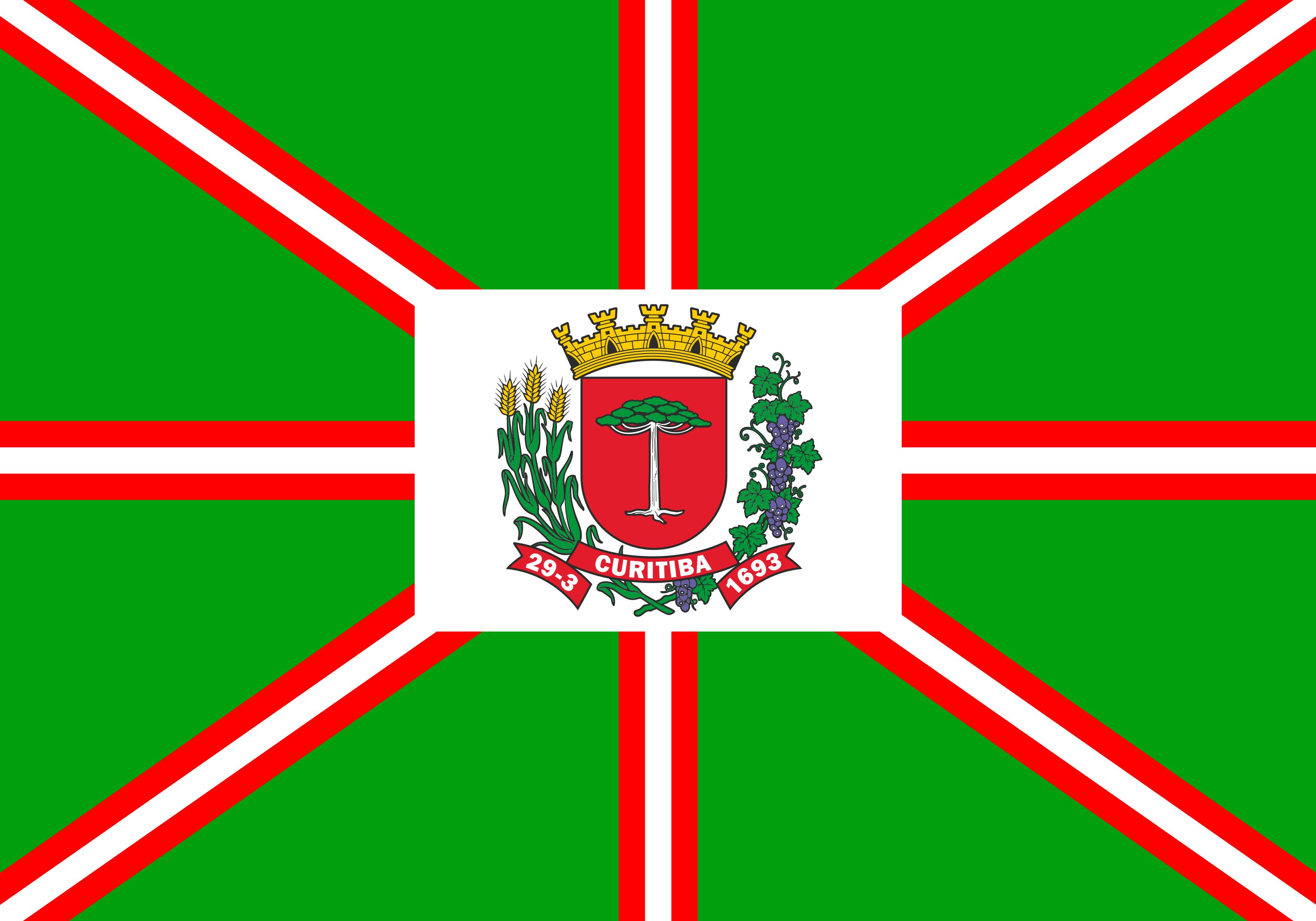 Bandeira de Curitiba.