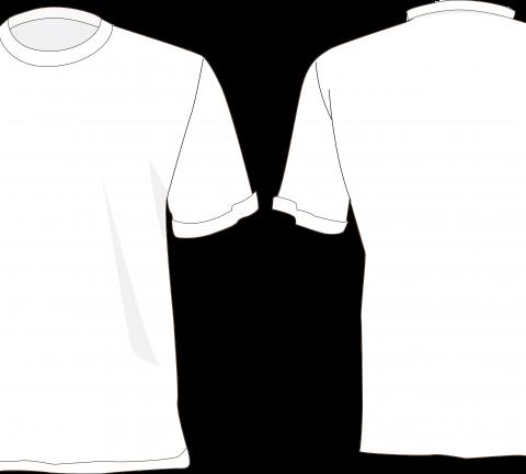 camisa branca desenho frente e costas.