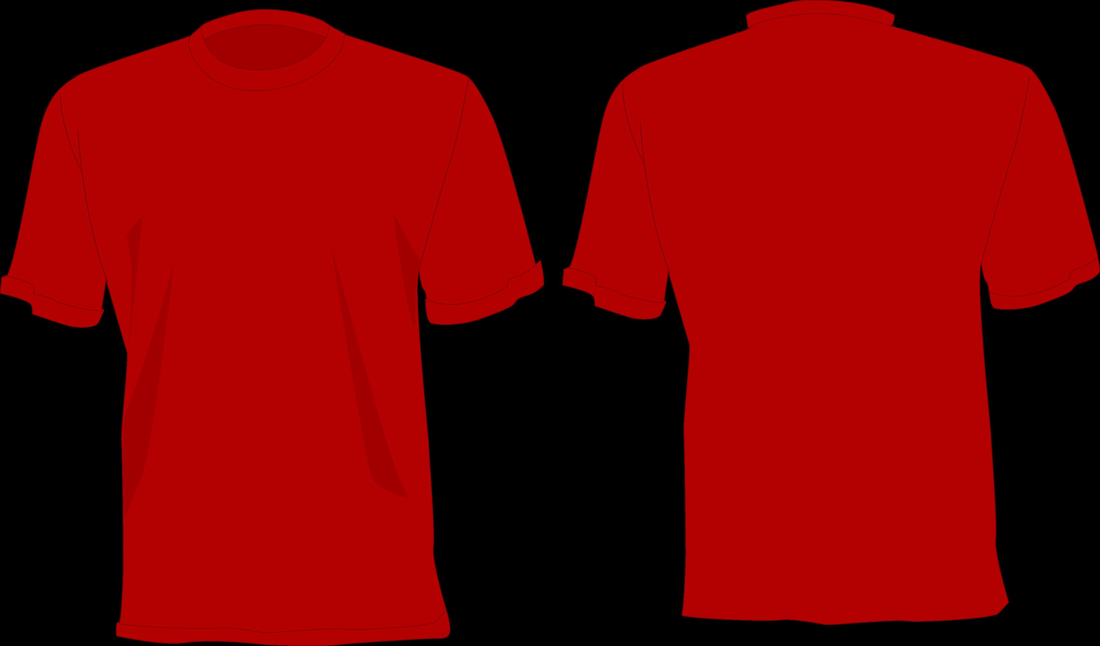 Camisa Vermelha desenho, frente e verso.