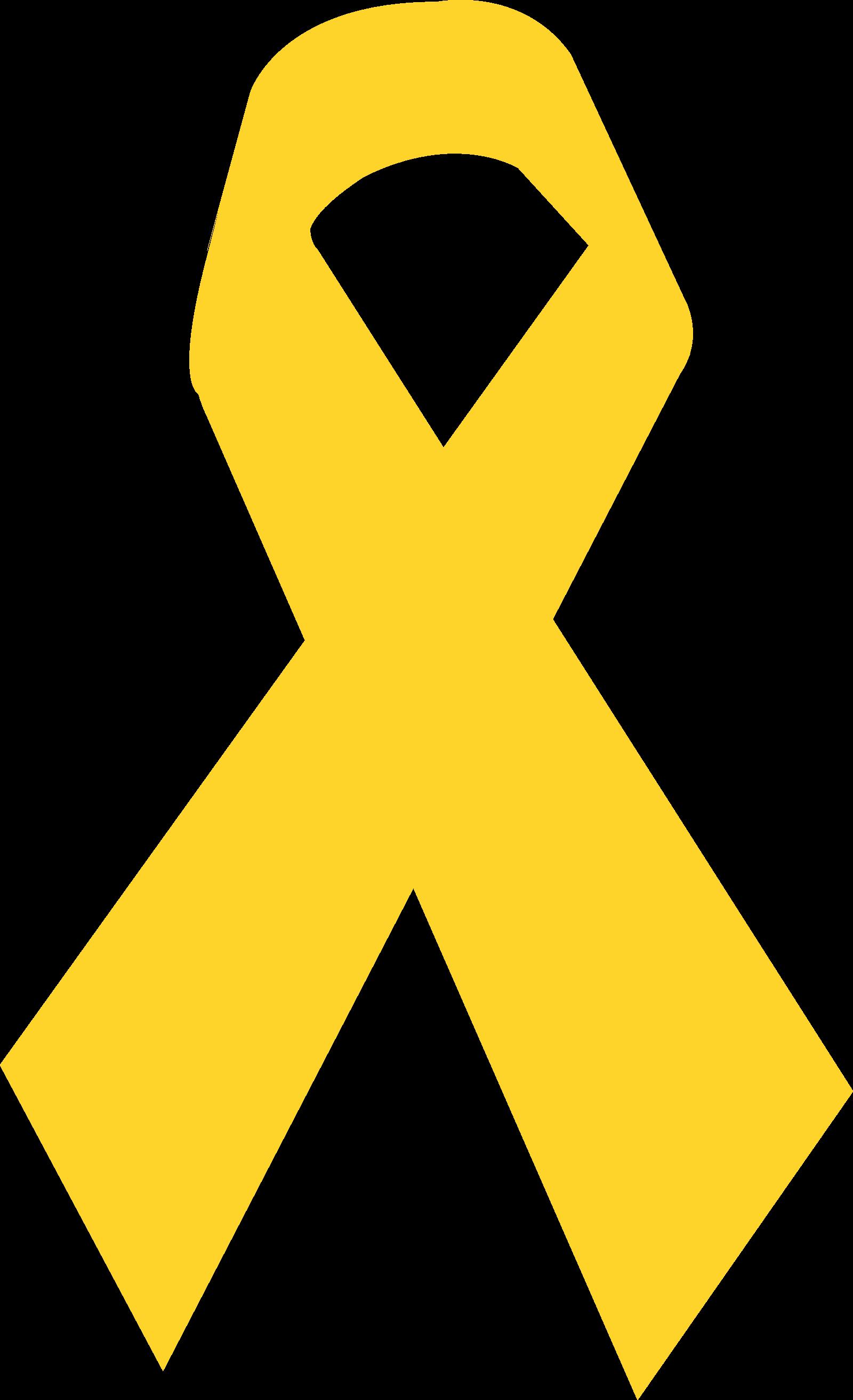 Laço de fita amarelo.