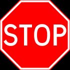Placa STOP.