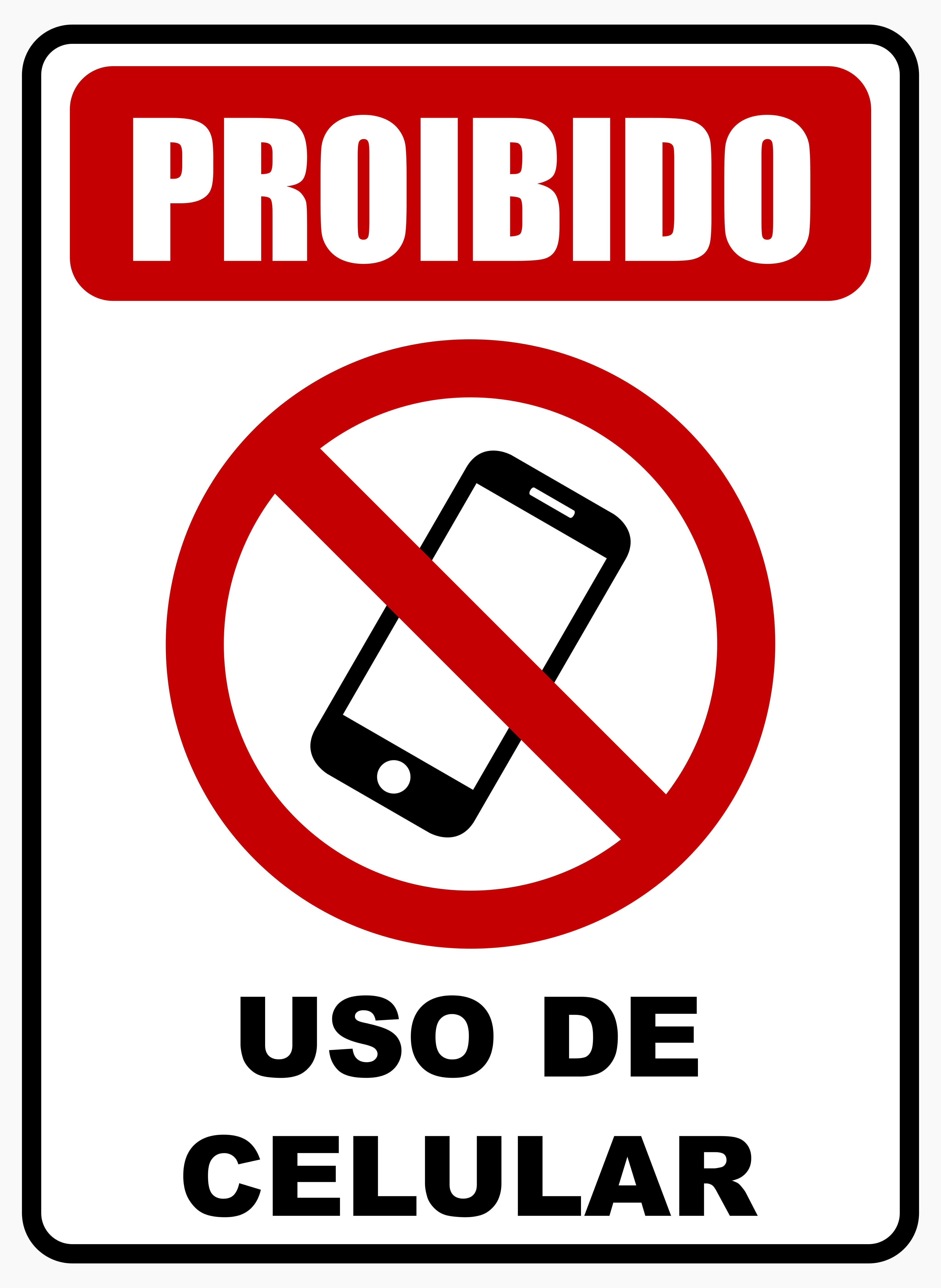 Proibido Celular Cartaz.