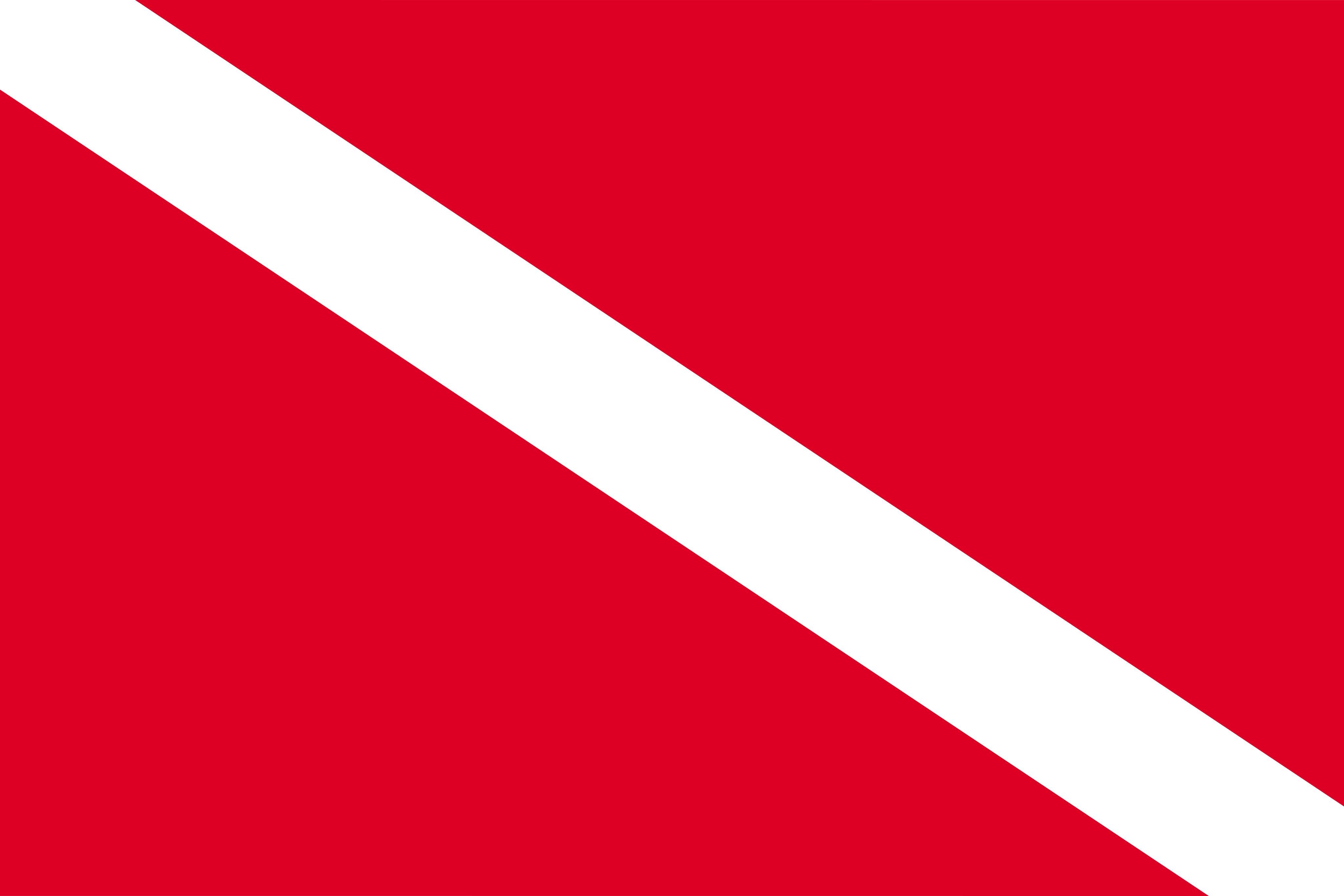 Bandeira de Mergulho PNG.